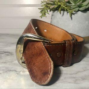Vintage Men's Tony Lama Leather Belt Sz 36